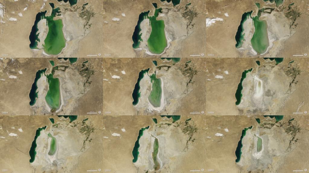 Арал из космоса, снимки NASA