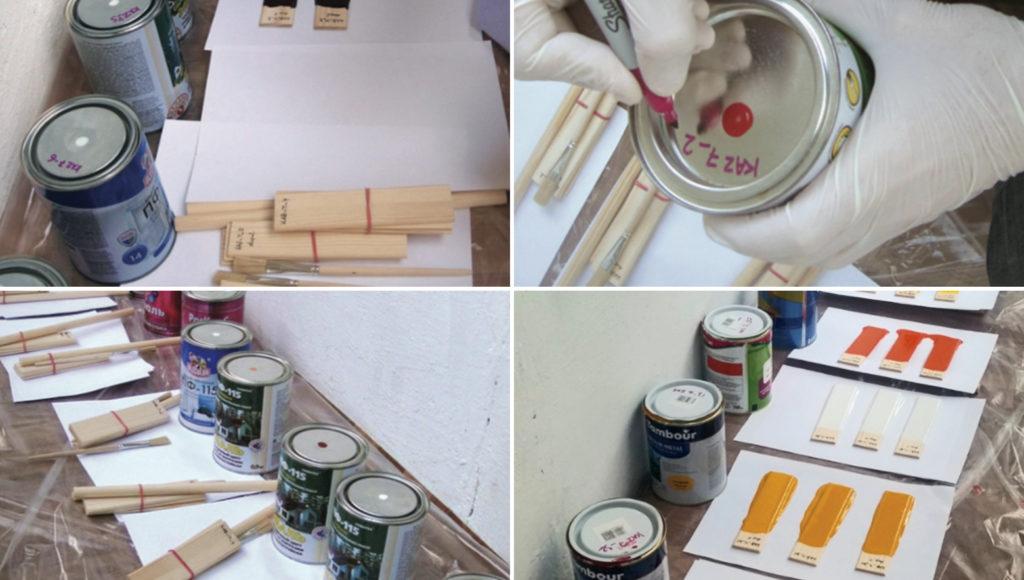 Подготовка образцов краски для исследования. Фото — Greenwomen
