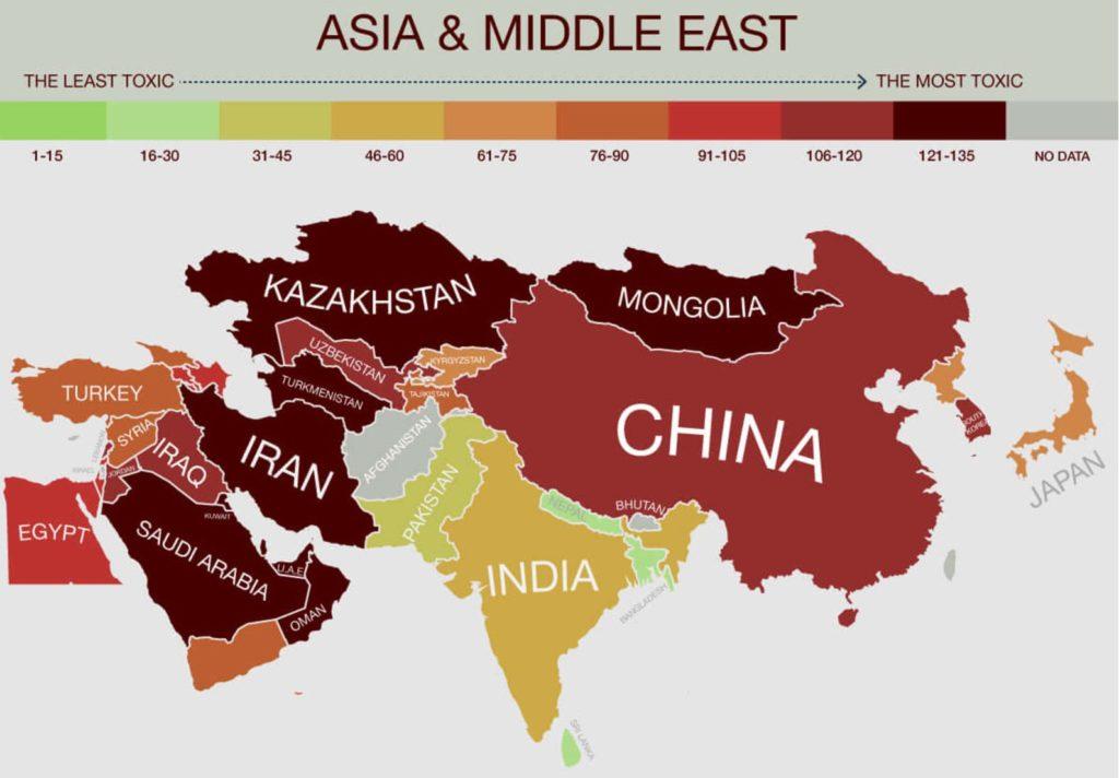 Рейтинг токсичных стран мира