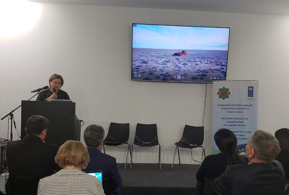 Г-жа Бекмирзаева выступает на конференции COP25