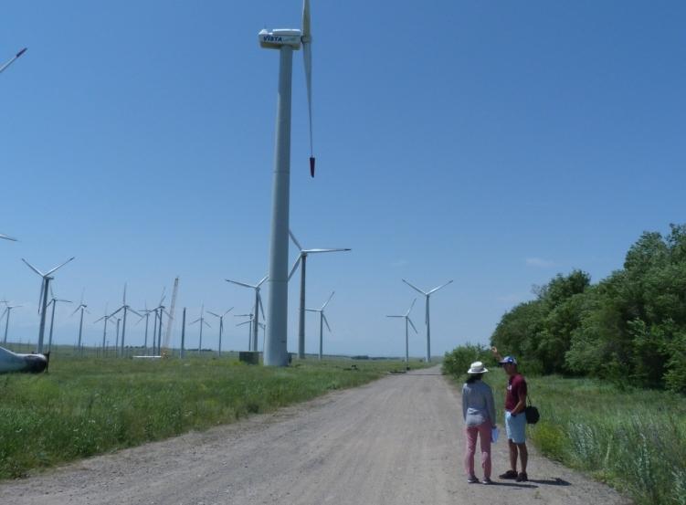 Экскурсия на ветроустановки