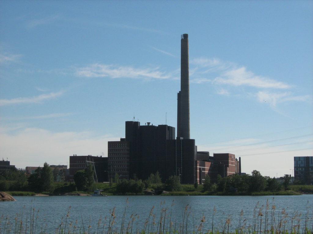 Фото ТЭЦ в Хельсинки
