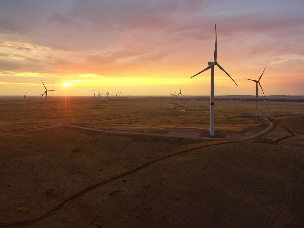 ТОО Первая ветровая электрическая станция ВЭС мощностью 45 МВт